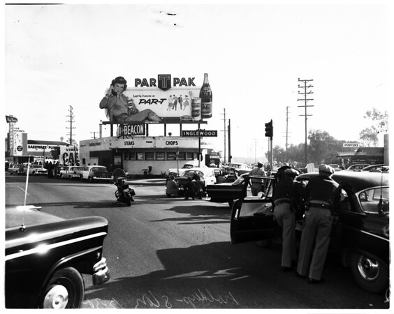 Robbery attempt in Inglewood Cafe, 1957