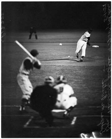 Baseball -- Dodgers versus Pirates, 1958