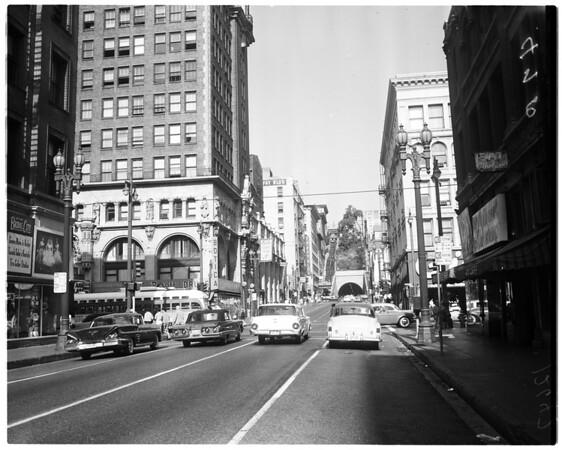 Los Angeles streets, 1959