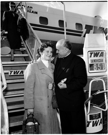 Yugoslav girl student arrives, 1958