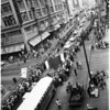 Dodgers welcome and parade, 1958