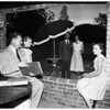 Fathers and daughters plan Mayfield School dance, 1952