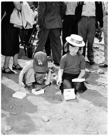 Dodger groundbreaking, Chavez Ravine, 1959
