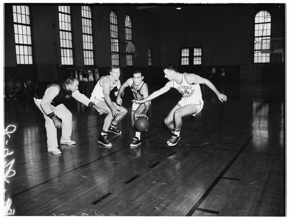 Basketball -- Southern California squad, 1957