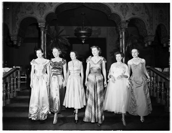 Freeman Hospital party at Coconut Grove, Ambassador Hotel, 1952