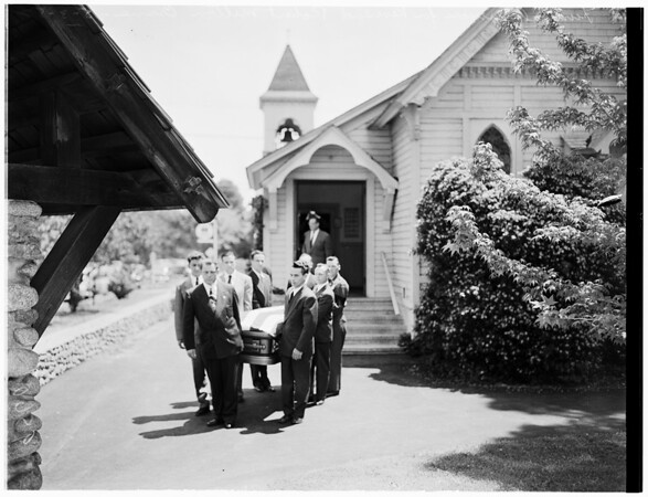 Funeral services for Reverend Robert Milton Crane, 1952.