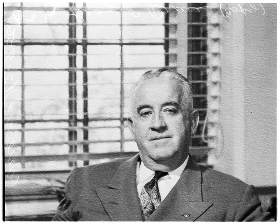 Leroy R. Bruce (Director of Los Angeles County Gerneral Hospital who died March 5th), 1955