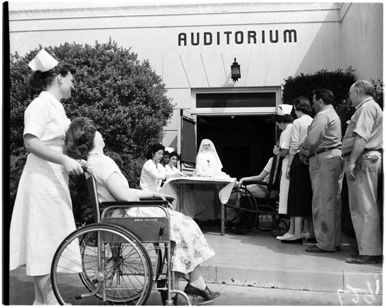 Queen of Angels Hospital disaster planning, 1956