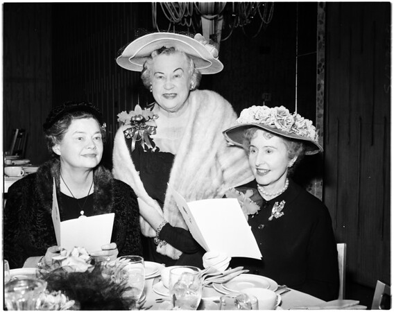Arthritis and Rheumatism  Foundation Fashion luncheon, 1958