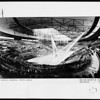 Architectural sketch of an interior view of the Los Angeles Memorial Sports Arena, ca. 1957