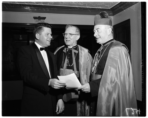 Bishop McGucken reception, 1955