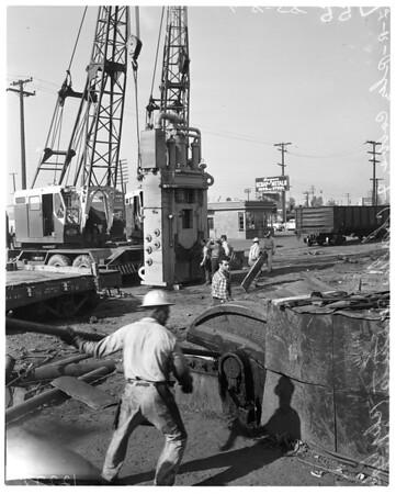 500-ton shear at A-1 Iron and Metal Company, 1958