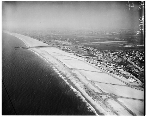 Aerials from Goodyear Blimp (Playa Del Rey area), 1957