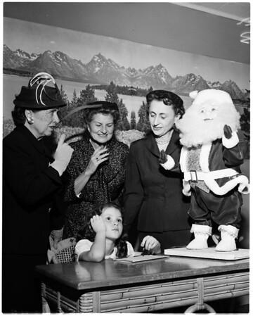 Cardinal McIntyre's Christmas party, 1958