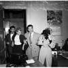 Narcotics raid (8641 Holloway Drive, and Central Station), 1952.