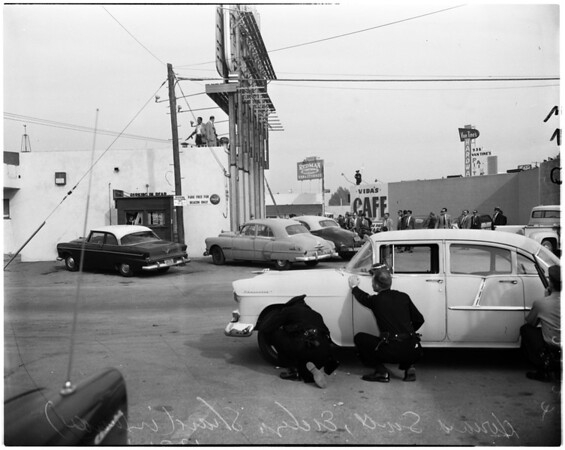 Robbery attempt (Inglewood cafe on Manchester), 1957