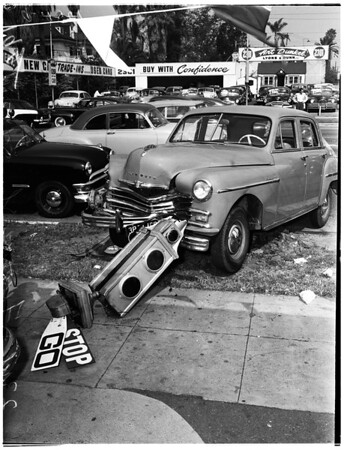 Auto accident, 1952.