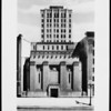 Frontal view of Los Angeles Stock Exchange building, 1954
