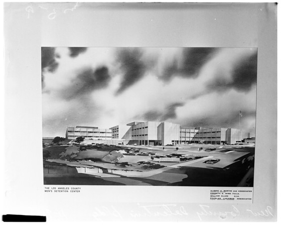 Los Angeles County Detention Building (Architect's drawing), 1959