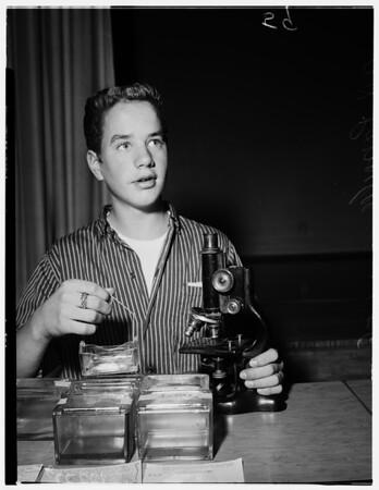 Paul Revere Junior High School science fair, 1958
