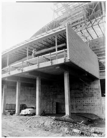 Sports Arena progress (Inside views of Sports Arena), 1959