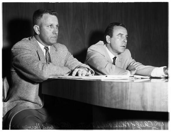 Police hearing in Lynwood, 1958