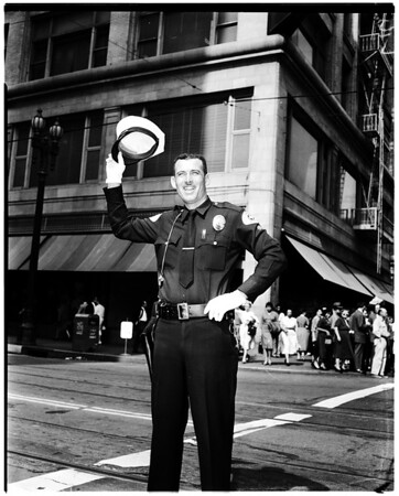Dodgers fans celebrate, 1959