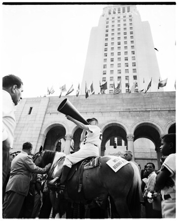 Dodgers parade, 1958