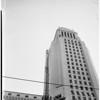 Ball on City Hall flag pole, 1959