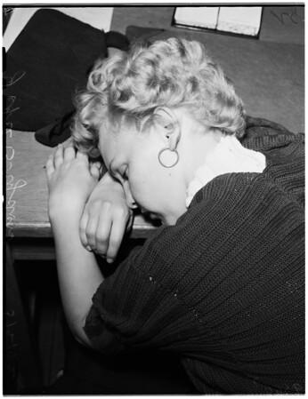 Narcotics raid (8641 Holloway Drive, and Central Station), 1952.