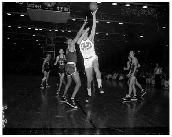Basketball -- University of California Los Angeles -- University of Southern California frosh, 1958