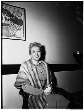 Celeste Holm divorce, 1952.