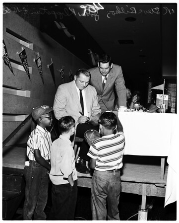 """Rotary Club """"Dodgers Day"""" luncheon, 1958"""