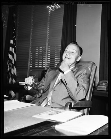 University of Southern California president, 1958