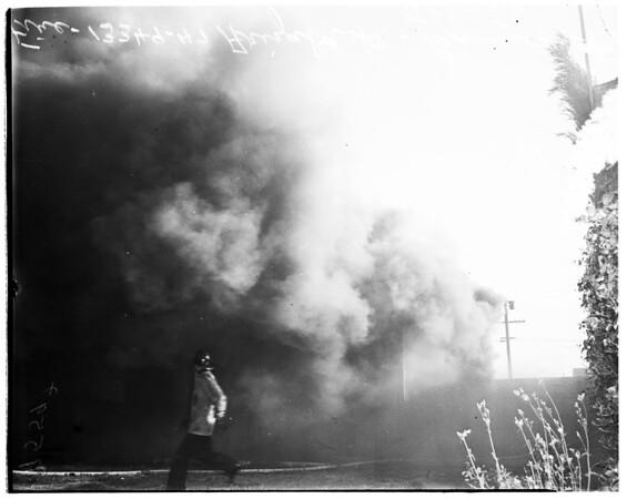Fire at 13349-47 Orizaba Avenue, Paramount, 1952.