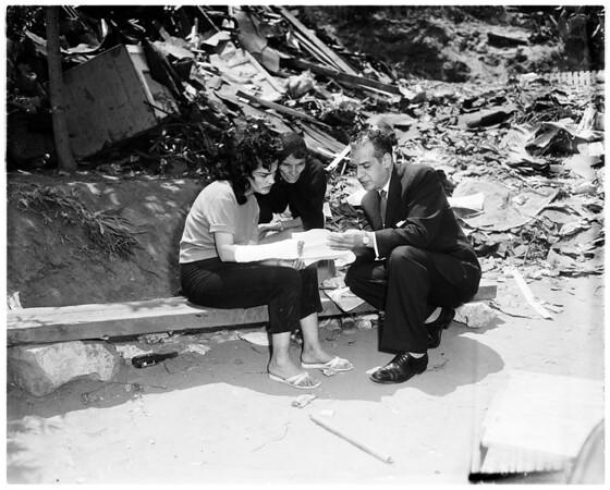 Chavez Ravine eviction hearing, 1959