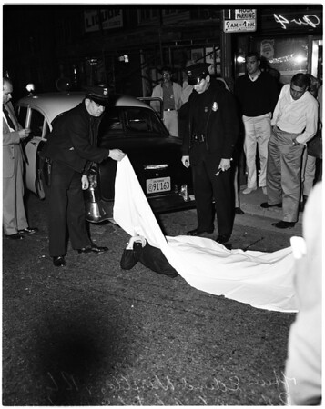 Marine shot by officers (Car Theft), 1957