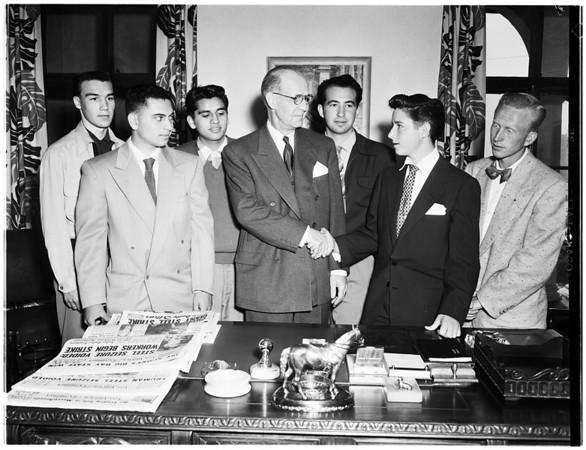 Boys week at Examiner (in industry), 1952.