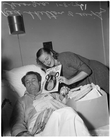 Red Skelton (at hospital), 1958.