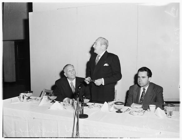 GOP Dinner at Shrine Auditorium, 1952