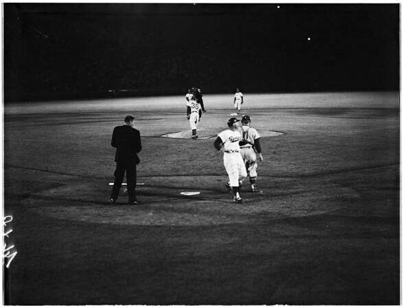 Baseball Los Angeles Dodgers versus Philadelphia, 1961