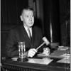 Ten-minute egg timer on city councilman talking, 1959