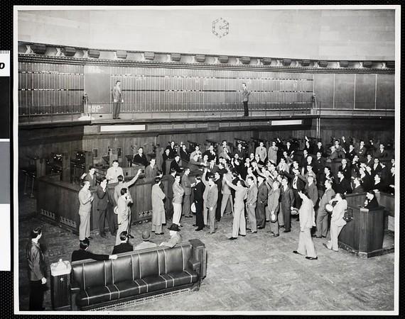 Trading floor of the Los Angeles Stock Exchange, 1931