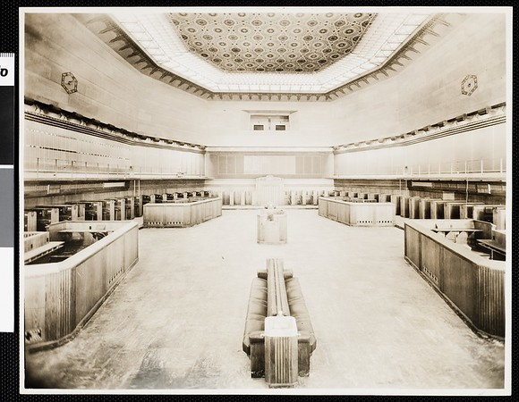 Interior view of the Los Angeles Stock Exchange, [s.d.]