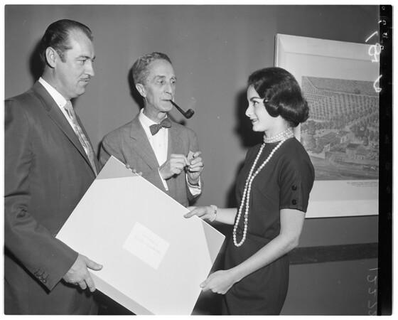 Hubenthal at Statler Hotel, 1958