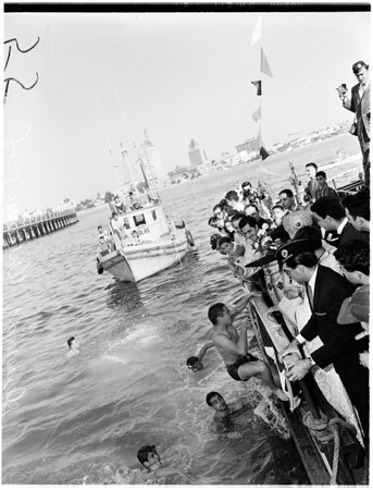 "Greek Orthodox ""Blessing of Waters"" off Rainbow Pier, 1958"