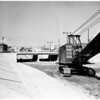 Los Feliz overpass near San Fernando Road nears completion, 1957