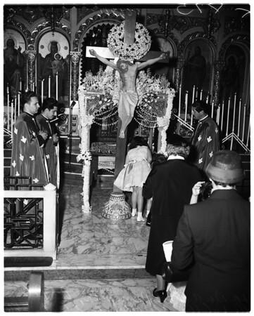 Greek Good Friday at Saint Sophia, 1956
