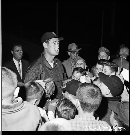 Ted Williams at the sportsman show, 1961