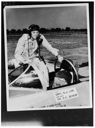 Jet ace in San Bernardino, 1952